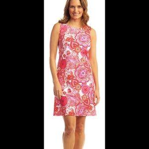 Jude Connally White & Pink Paisley Shift Dress